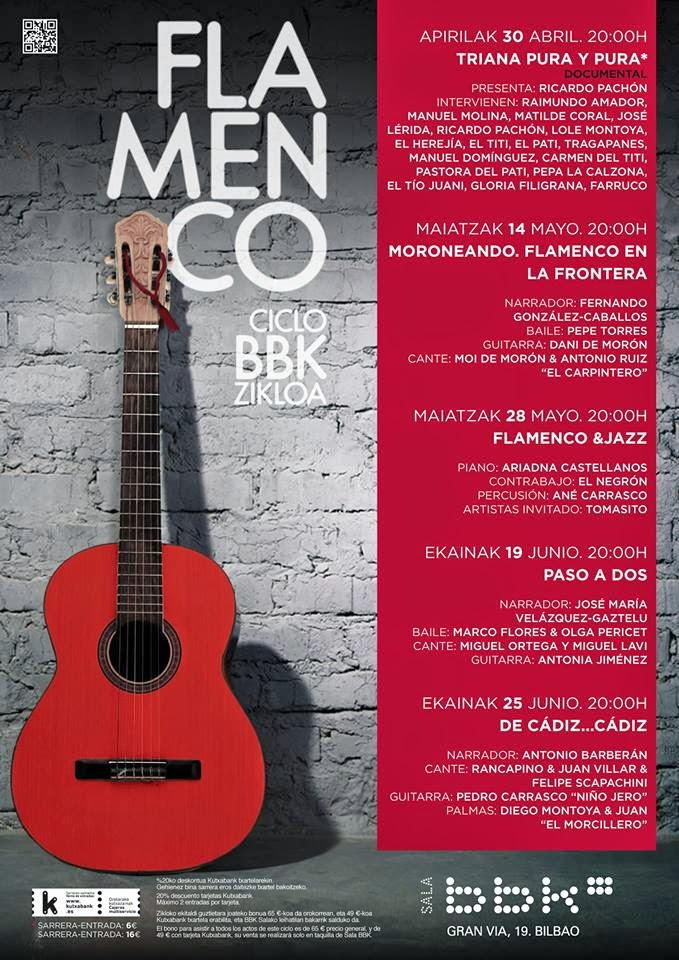 CICLO DE FLAMENCO. ABRIL-JUNIO 2014