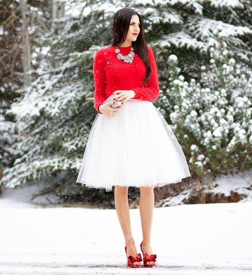 inspiration red christmas, blogger outfit