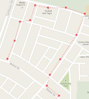 google maps marker not centred on polyline v3, Place Marker on center of polyline