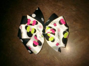2-layer Minnie Mouse Bow