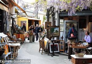 Porte de Clignancourt flea market Paris