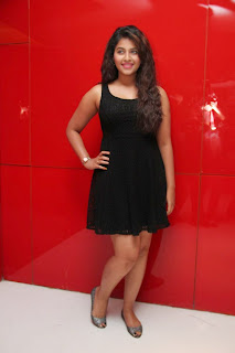 Actress Anjali Latest  Pictures in Short Dress at Kayal Movie Audio Launch  26.jpg