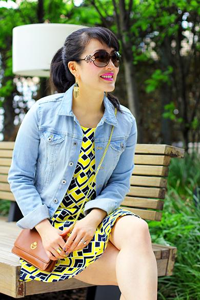 JewelMint fancy fringe earrings with DVF sunglasses