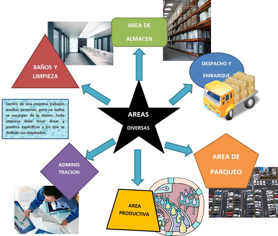 Distribucion en planta areas diversas for Distribucion de oficinas en una empresa