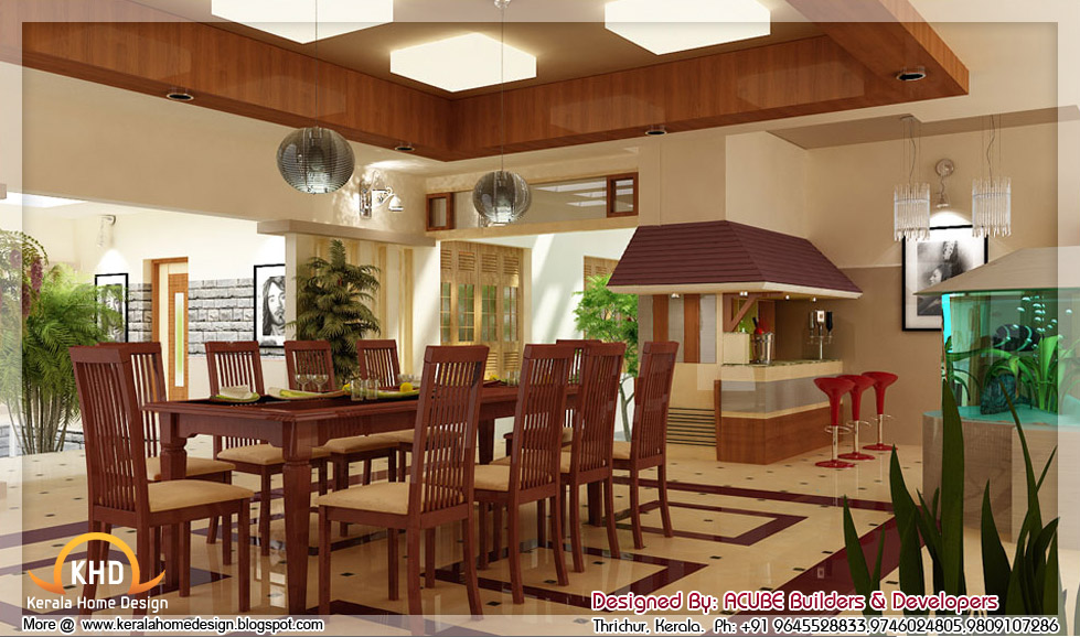 kerala house inside 3d home interior designs in