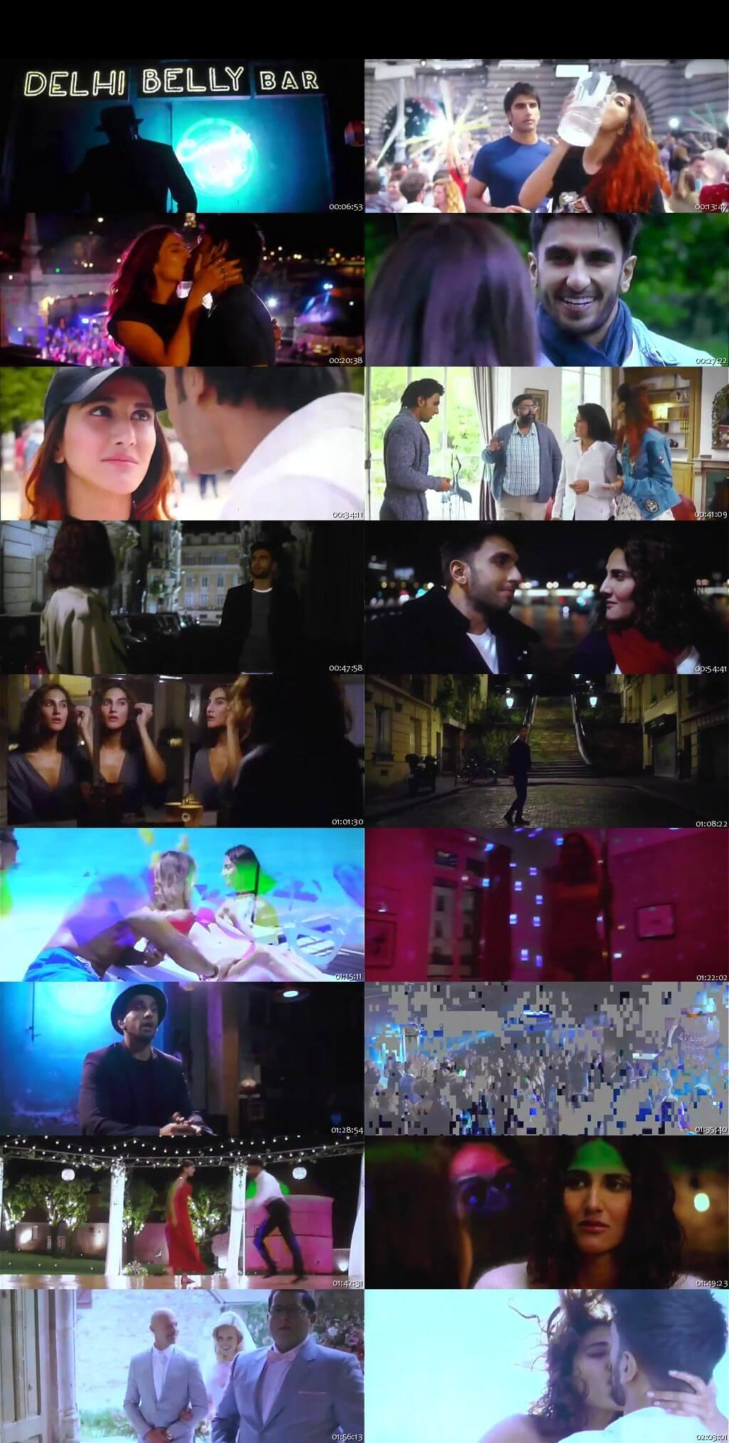 Screen Shot Of Befikre 2016 300MB DVDScr Full Hindi Movie Watch Online Free Download