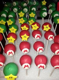 Cake Pops de Mario Bros