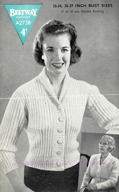 1950s cardigan knitting pattern bestway a2738