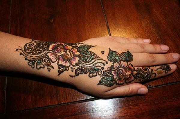 Mehndi Designs Colour : Bridal mehndi designs latest colour glitter