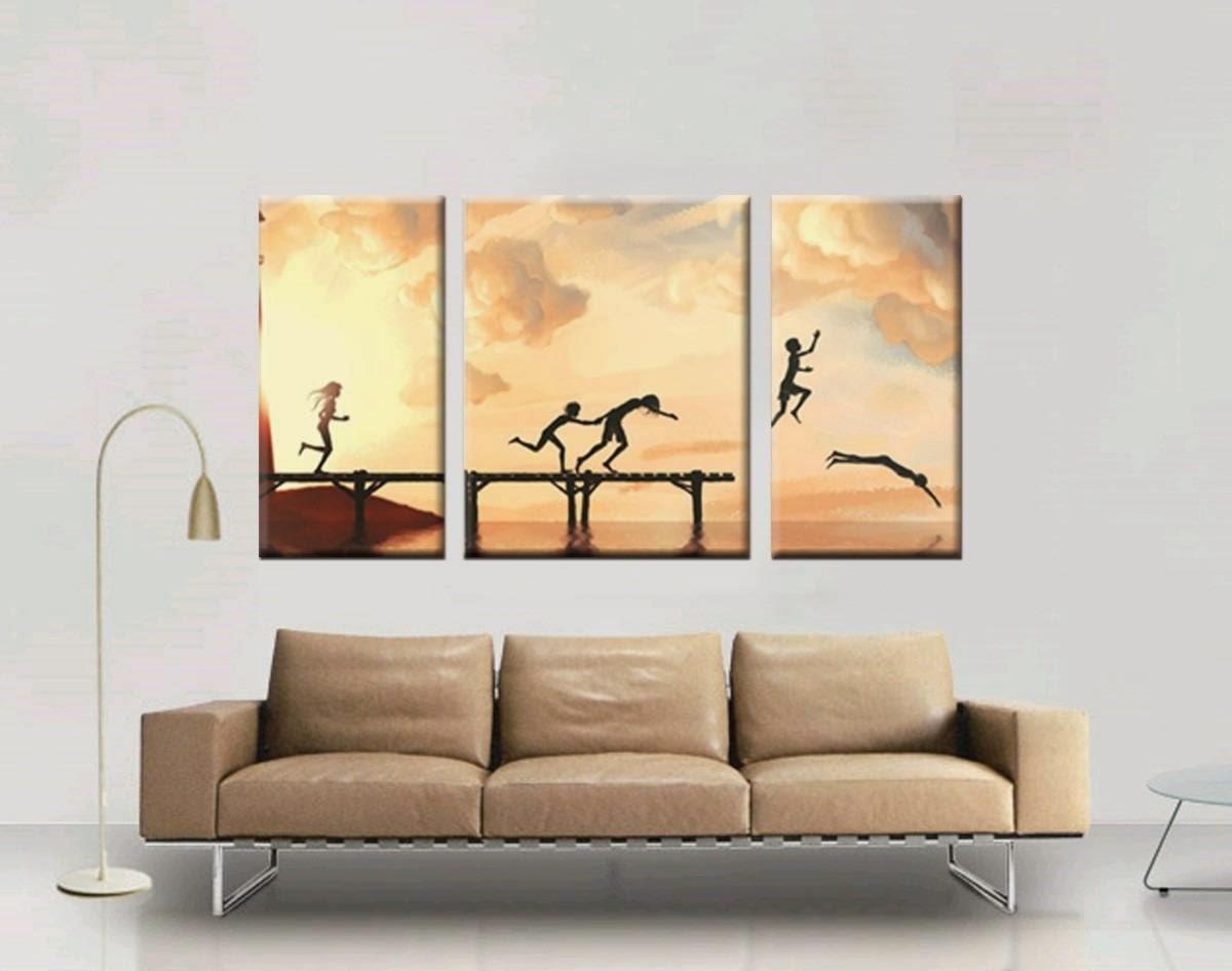 Tendencia en decoraci n los cuadros pol pticos revista - Cuadros para decorar salones ...