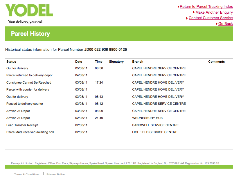 yodel delivery network