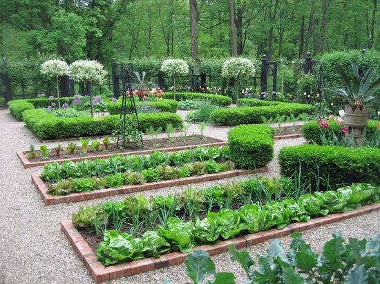 Arte y jardiner a dise o de jardines estilos de huertos for Huerto y jardin