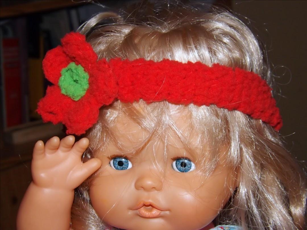 Cinta de pelo o diadema de crochet o ganchillo