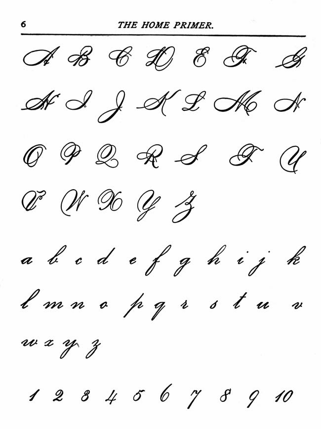 Beautiful Handwriting Alphabet