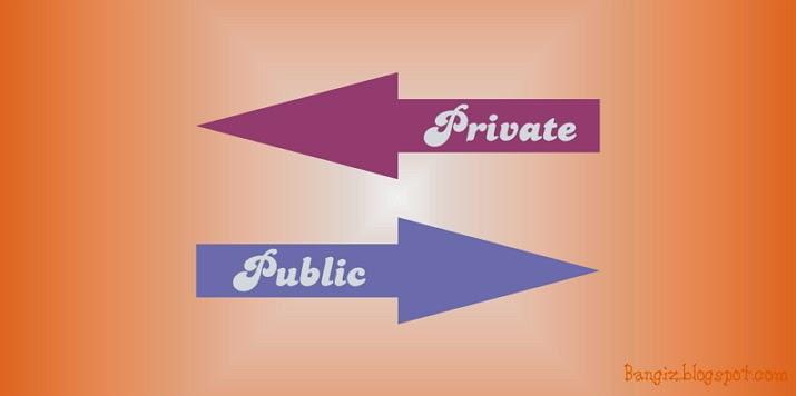 private public