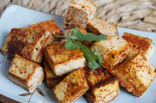 Crispy threaded tofu