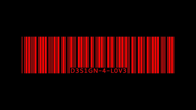 Red barcode black red wallpaper