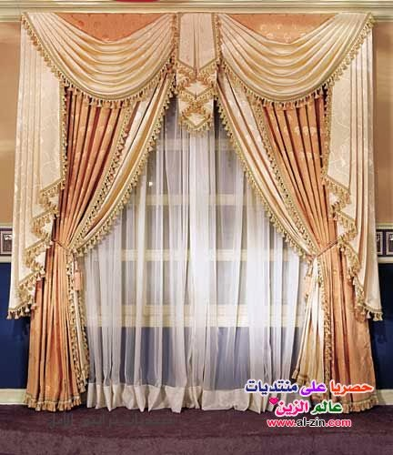 Living room interior design unique curtains designs 2014 for Fancy window design