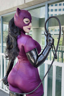 Catwoman with whip cosplay