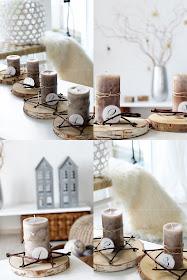 DIY Adventskranz, Adventskranz aus Baumscheiben, Sterne aus Ästen binden,