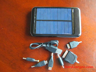 Cheap solar charger I paid about $20 for