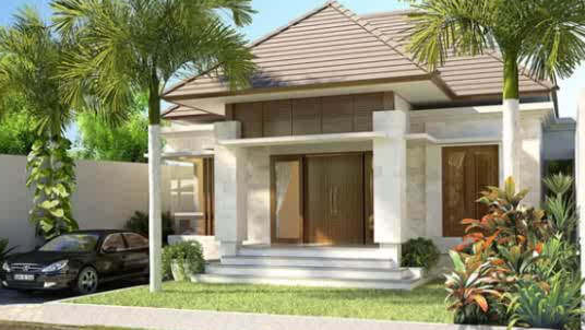 Desain Rumah Klasik Minimalis 1 Lantai Modern