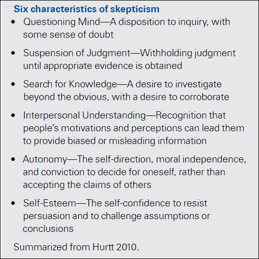 the values of skepticism Does skepticism belong in can healthy skepticism create a more collaborative how can leveraging the value of healthy skepticism enhance your human.