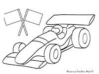 Mewarnai Gambar Mobil Balap Formula 1