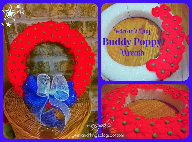 Patriotic DIY Buddy Poppy Wreath
