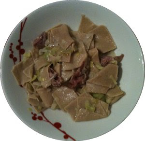 Pasta with Speck and Leek