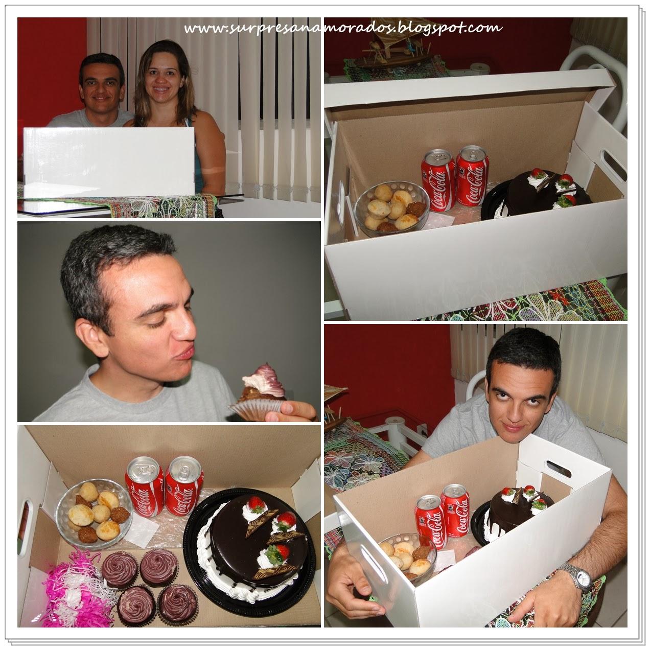 Suficiente Festa na caixa para o namorado | Surpresas para Namorados VB55
