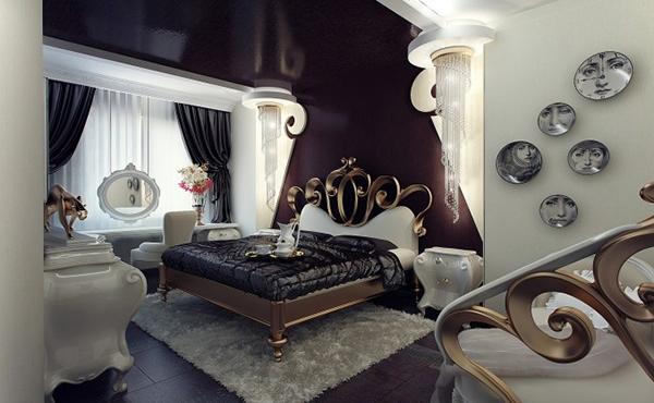 desain glamor kamar tidur mewah rumah idaman