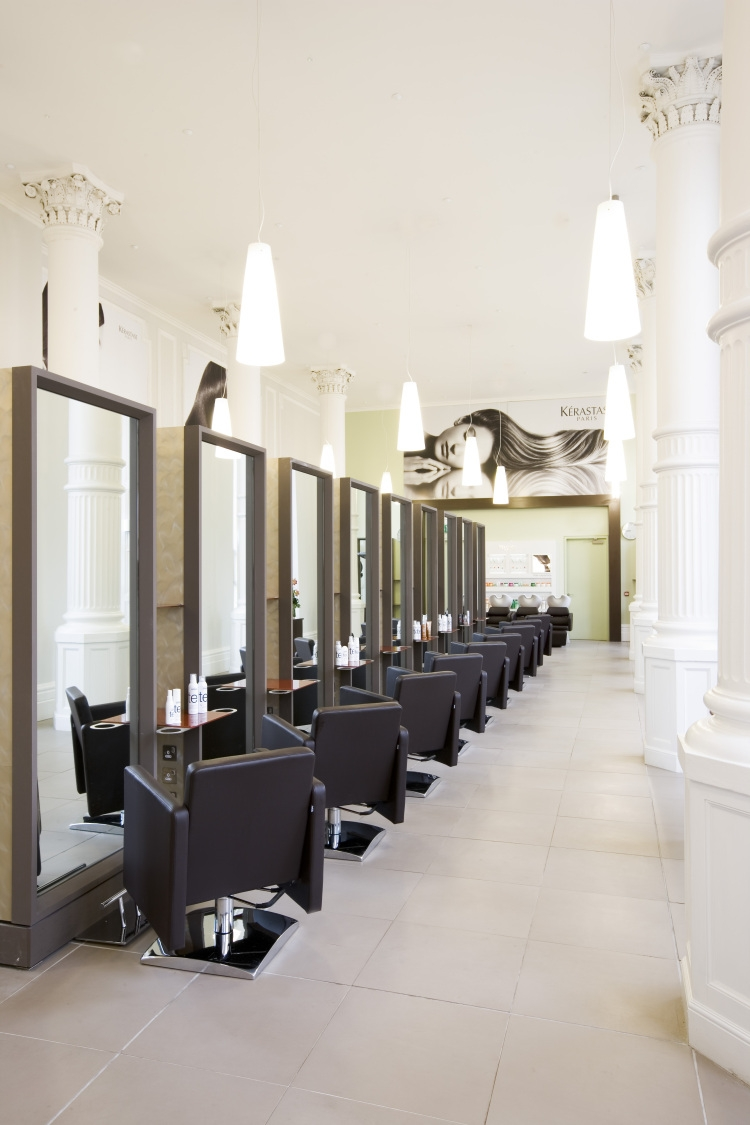 Environmental design hair salon for Salon decor
