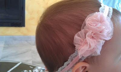 tocado para bebé rosa bonito