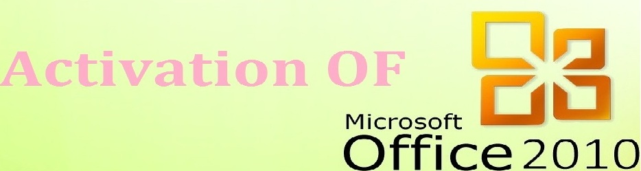 Microsoft Office 2010 Activation