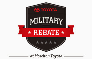 Toyota Military Rebate at Hoselton Toyota in East Rochester, NY