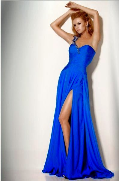 Vestidos de promocion de secundaria azul electrico