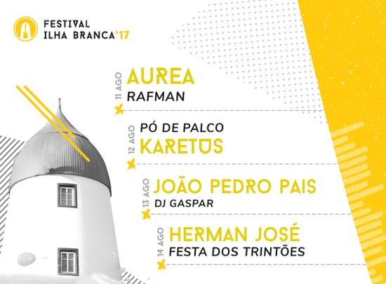 Festival Ilha Branca 2017 de 11 a 14 de Agosto