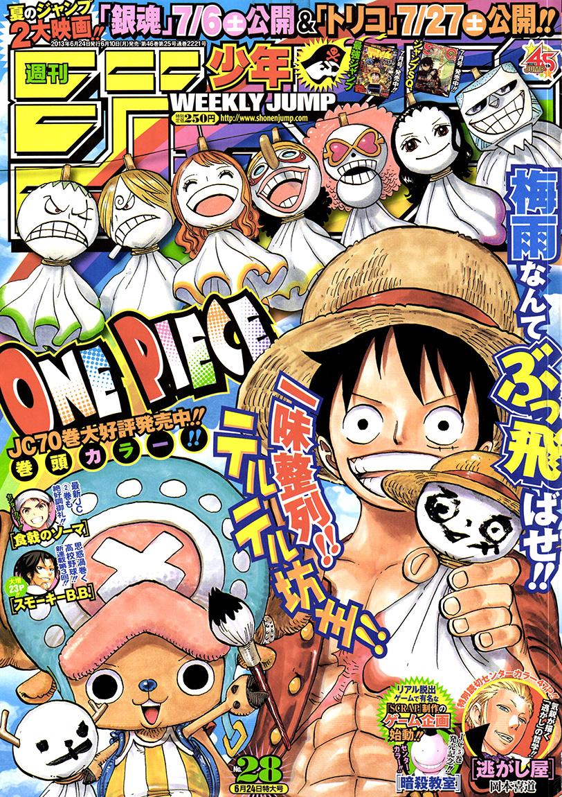 One Piece Chapter 710: Hướng tới Green Bit 001