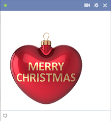 Merry Christmas Heart Sticker for Facebook