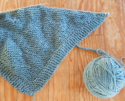 Triangular Prayer Shawl Knit Pattern : Plain and Joyful Living: A Simple Knit Shawl Pattern