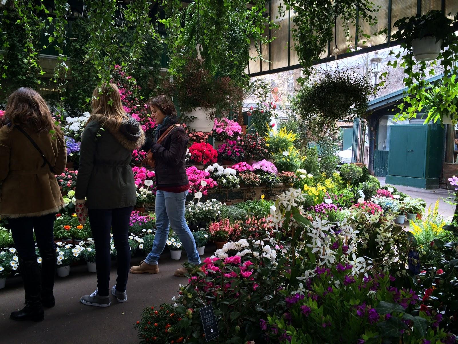Pic of the Paris Flower Market in Place Louis Lépine