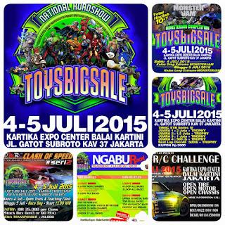 THIS WEEKEND! 4-5 July 2015 @BalaiKartini National Roadshow #ToysBigSale2015 JAKARTA