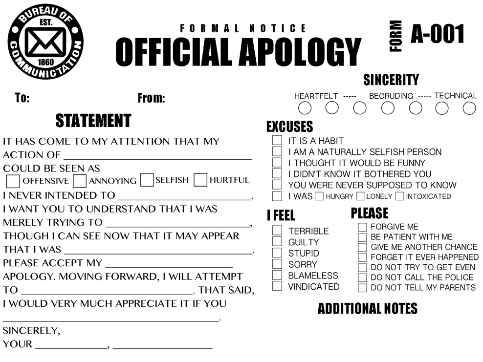 Funny Quotes About Apology QuotesGram