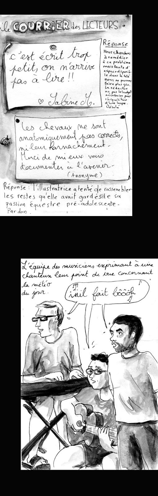 """""""Il fait beau"""" interprété par Georges Brassens en bas de la note."""