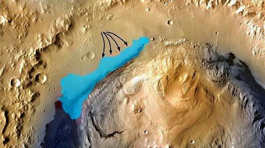 Lago de agua dulce en Marte