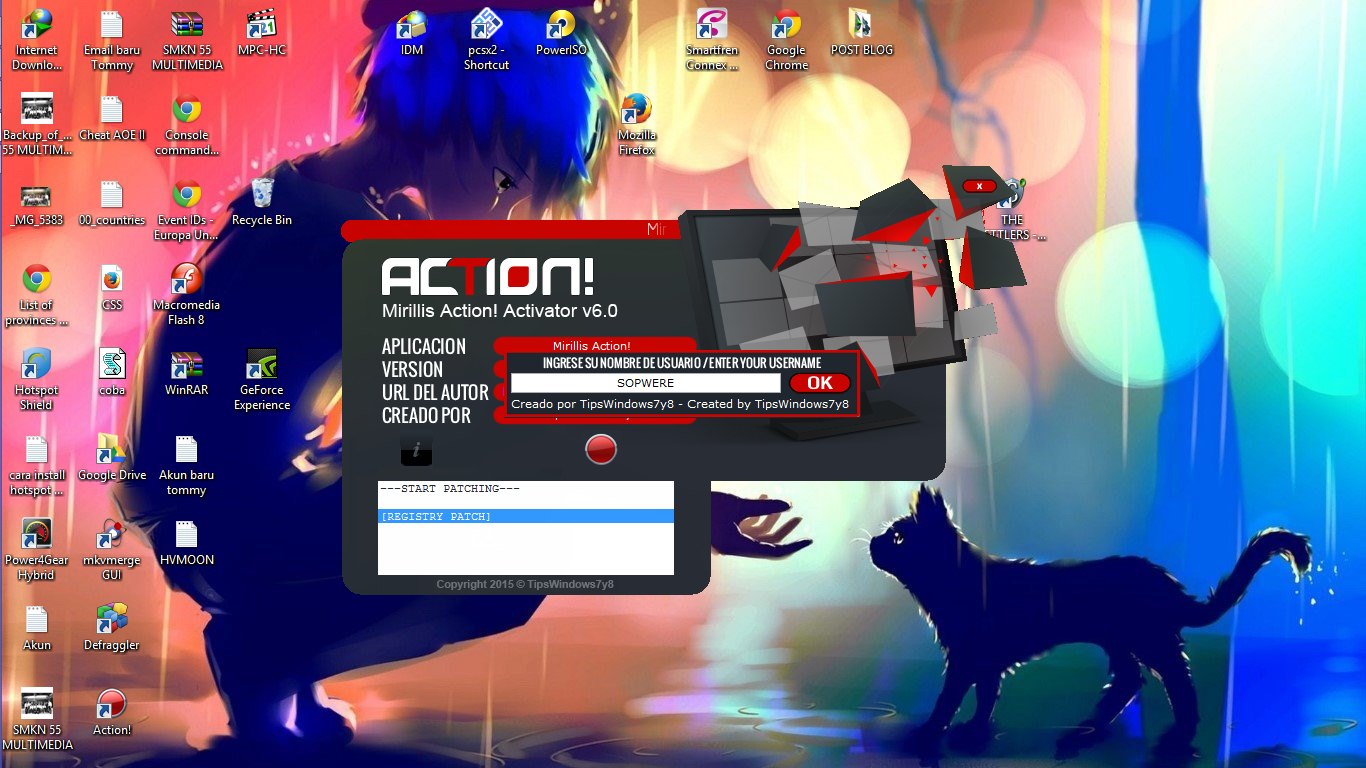 how to download mirillis action