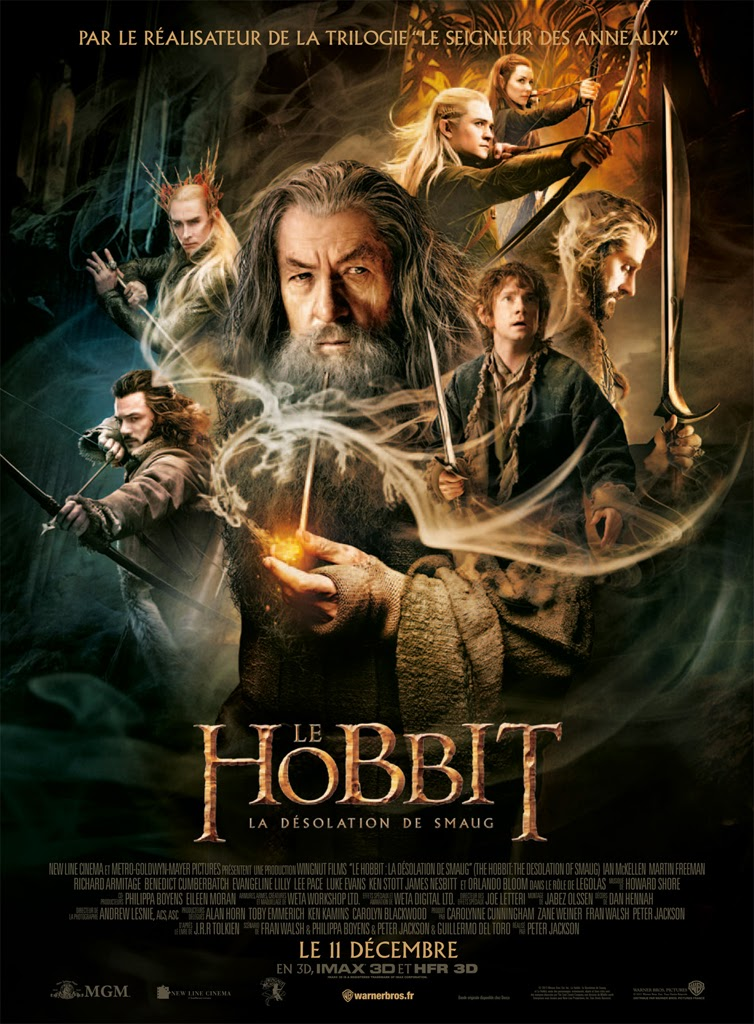 The Hobbit, Peter Jackson, The Desolation of Smaug, La désolation de Smaug, Smaug, Benedict Cumberbatch, Necromancer, Luke Evans, Girion, Bard, Evangeline Lilly, Tauriel, Orlando Bloom, Legolas, Ian McKellen, Gandalf, Martin Freeman, Bilbo, Thranduil, Lee Pace, Richard Armitage, Thorin, Sauron, Saroumane, Guillermo del Toro, Philippa Boyens, Fran Walsh, Seigneur des anneaux, Lord of the rings, geek me hard, geekmehard, article, critique, avis, test, trailer, poster, avis
