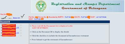 Step6: Download Encumbrance(EC) in online image