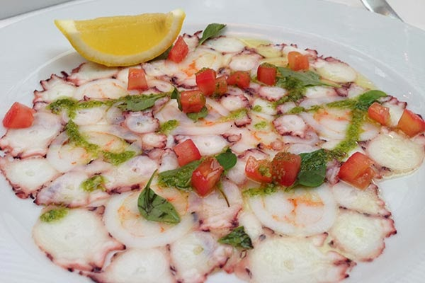 Carpaccio frutos do mar